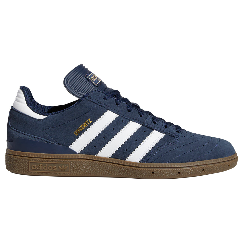 Adidas Busenitz Shoes in Collegiate Navy / Footwear White / Gum