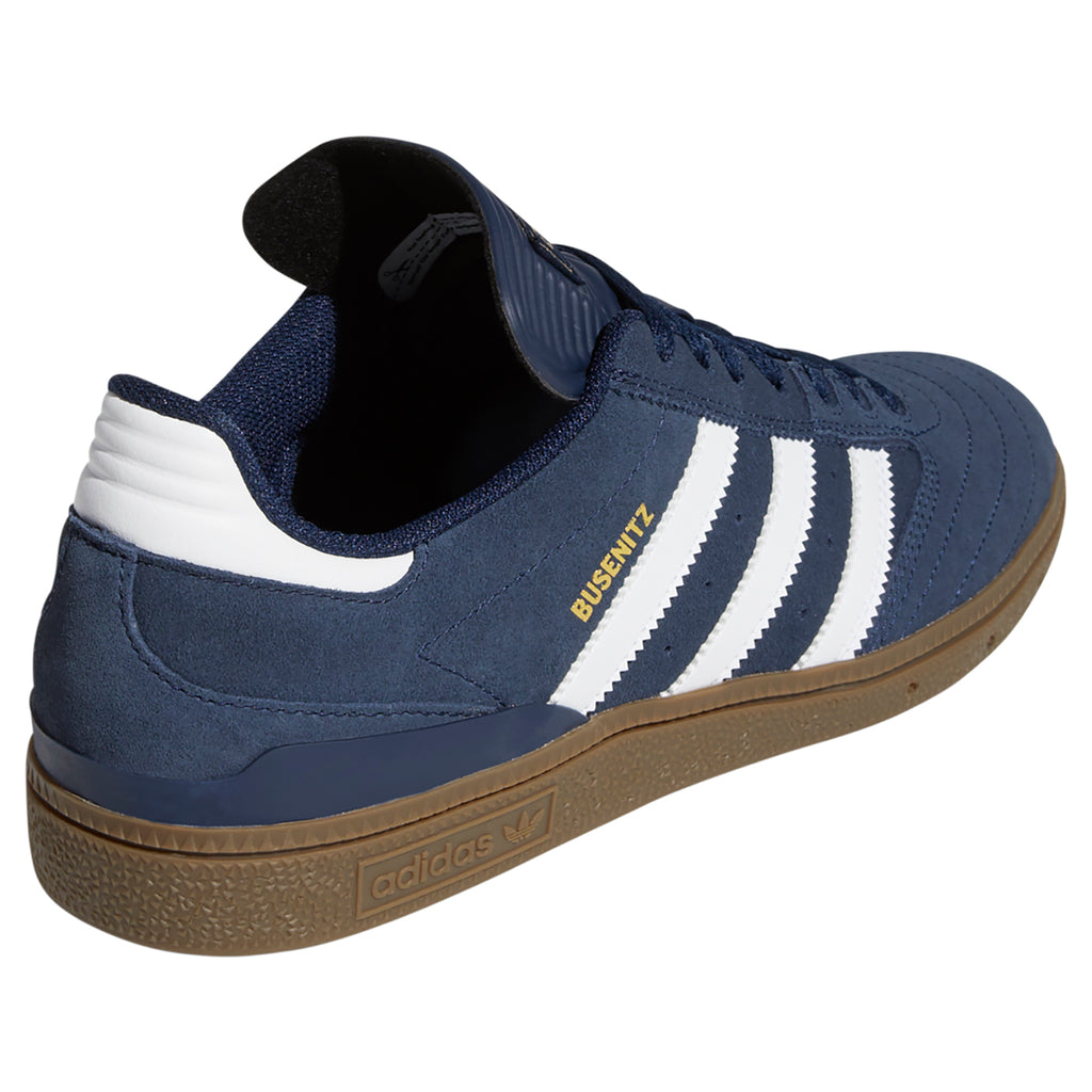 Adidas Busenitz Shoes in Collegiate Navy / Footwear White / Gum - Heel