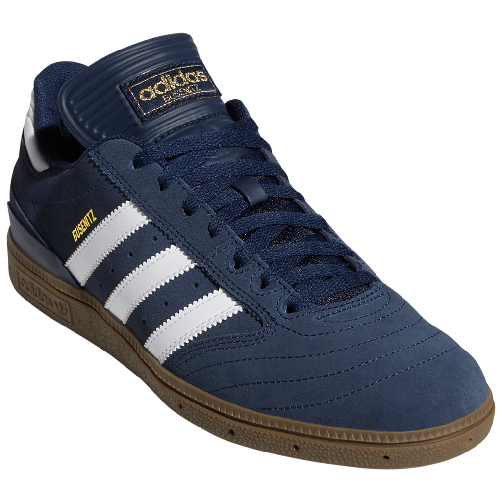 Adidas Busenitz Shoes in Collegiate Navy / Footwear White / Gum - Toe