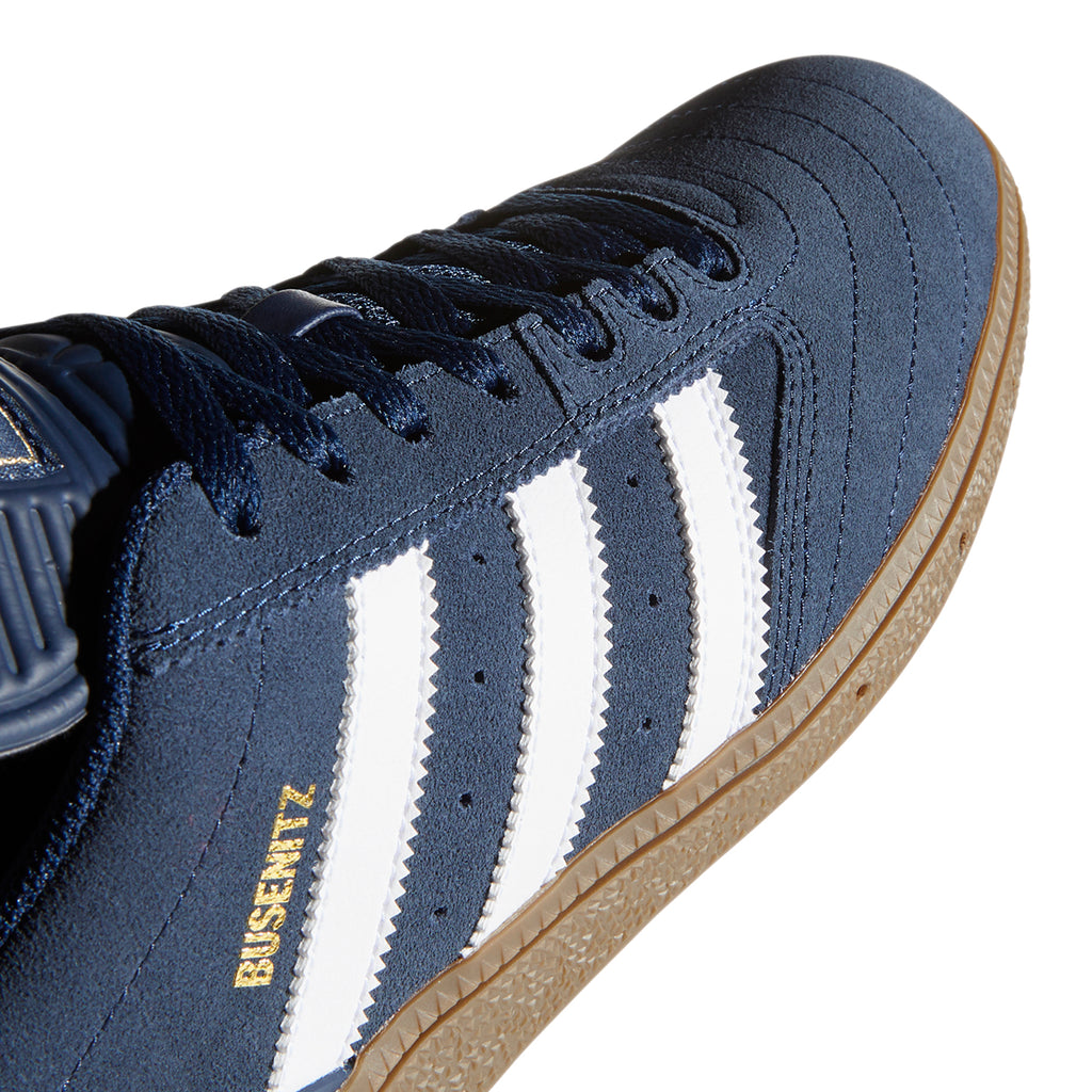 Adidas Busenitz Shoes in Collegiate Navy / Footwear White / Gum - Side