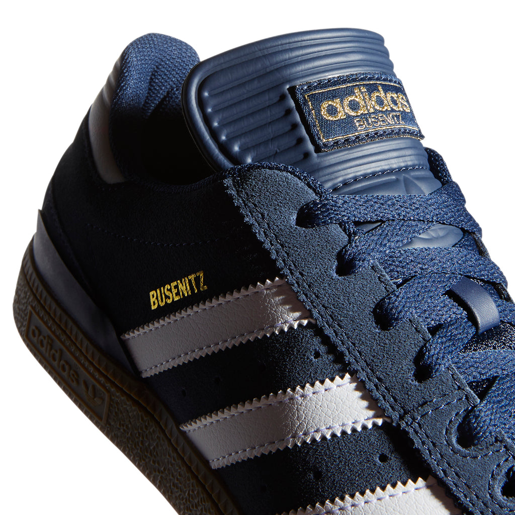 Adidas Busenitz Shoes in Collegiate Navy / Footwear White / Gum - Side 2