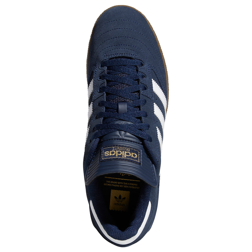Adidas Busenitz Shoes in Collegiate Navy / Footwear White / Gum - Top