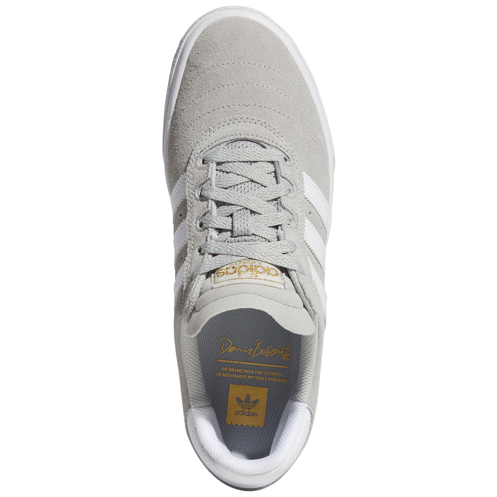 Adidas Busenitz Vulc Shoes in Grey Two / Footwear White / Gold Metallic - Top