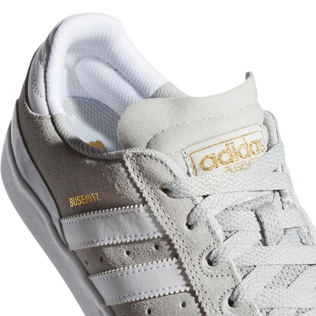 Adidas Busenitz Vulc Shoes in Grey Two / Footwear White / Gold Metallic