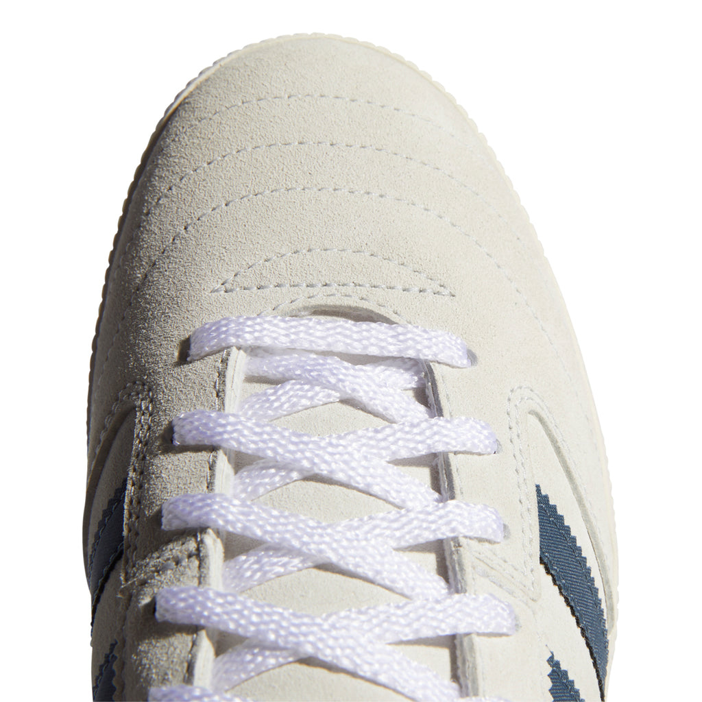 Adidas Skateboarding Busenitz Vintage Shoes in Crystal White / Legacy Blue / Chalk White - Toe