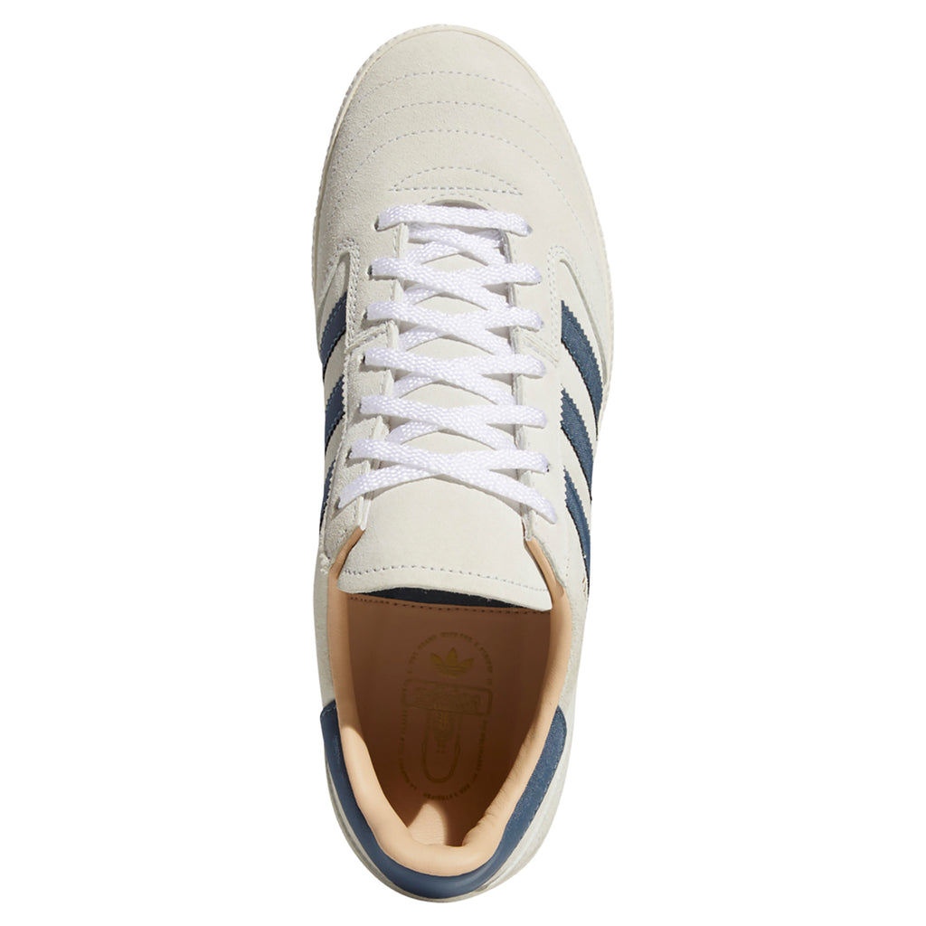 Adidas Skateboarding Busenitz Vintage Shoes in Crystal White / Legacy Blue / Chalk White - Top 2