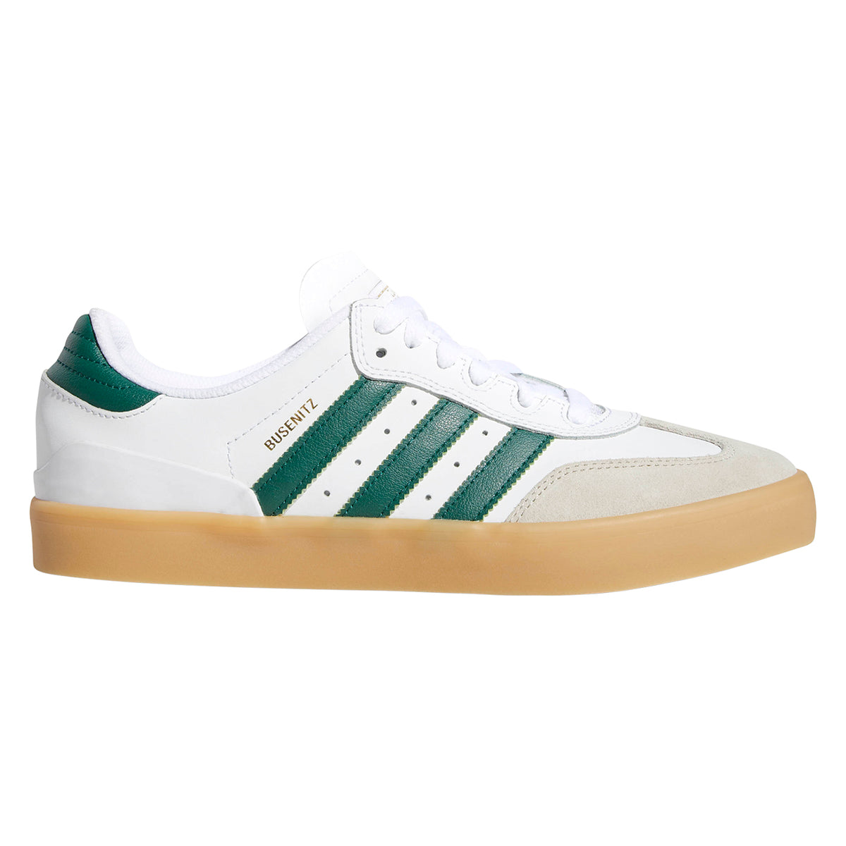 3464e781b Busenitz Vulc RX Shoes in Footwear White   Collegiate Green   Gum by Adidas