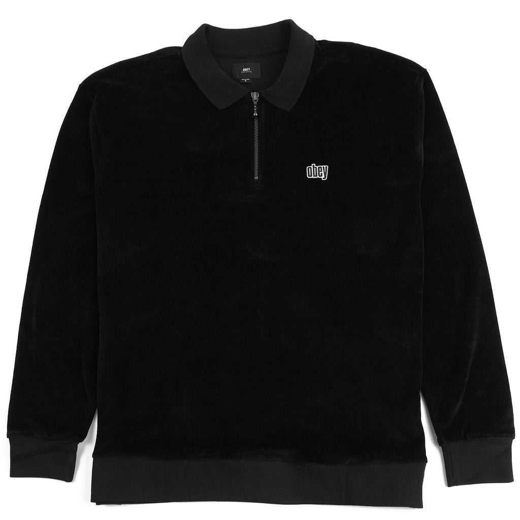 Obey Clothing Buster Classic Polo L/S in Black