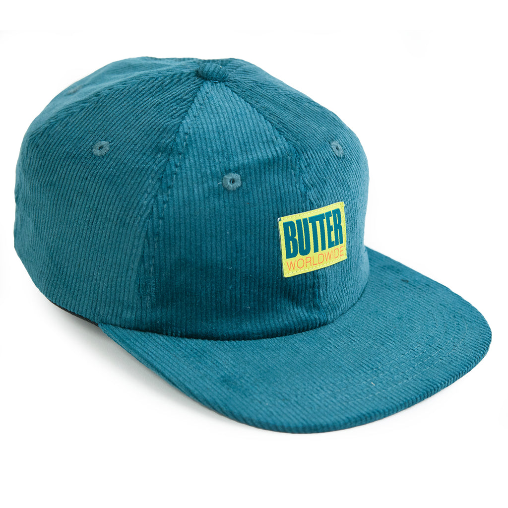 Butter Goods Thomas Corduroy 6 Panel Cap in Jade