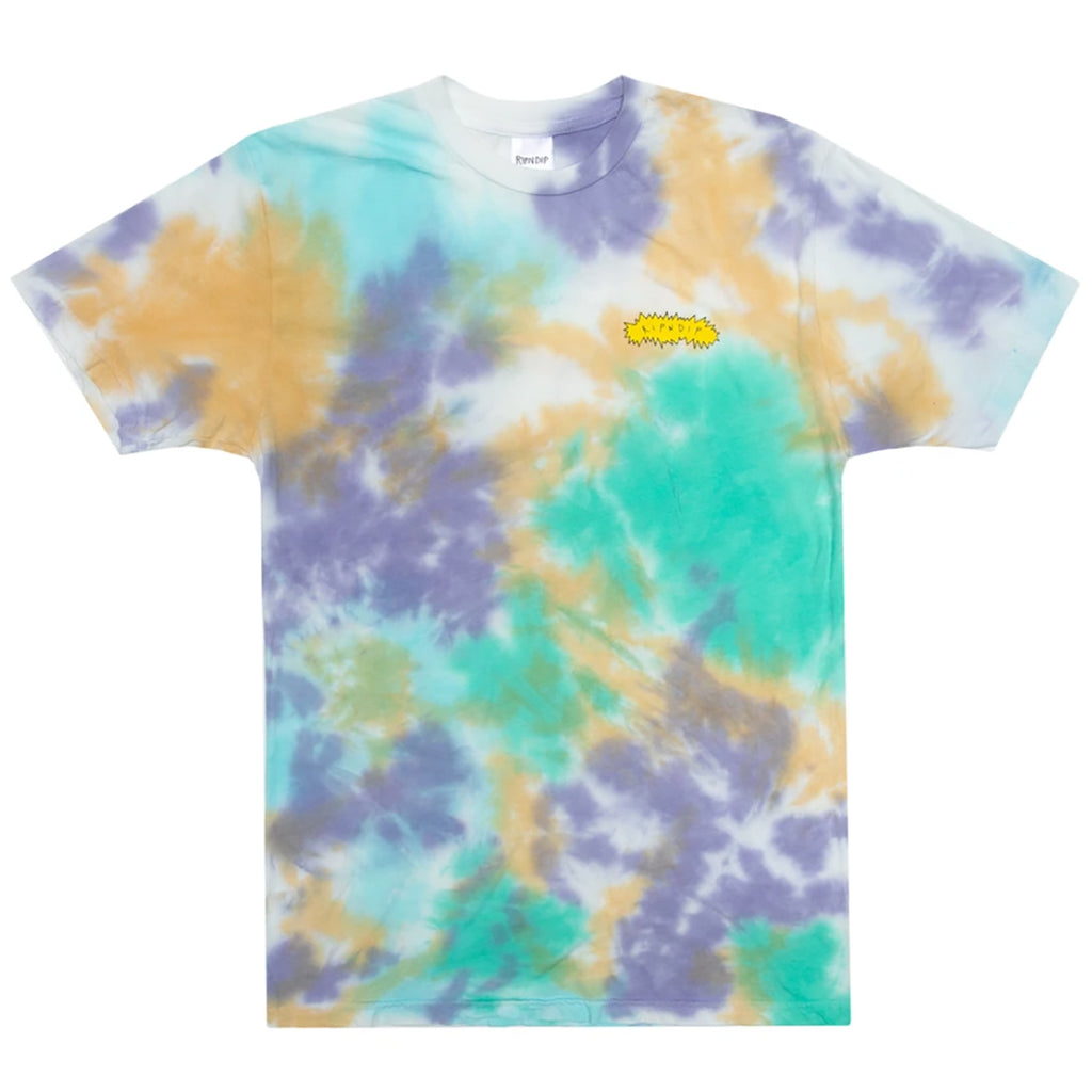 RIPNDIP Butz Up T Shirt in Multi Cloud Wash - Front