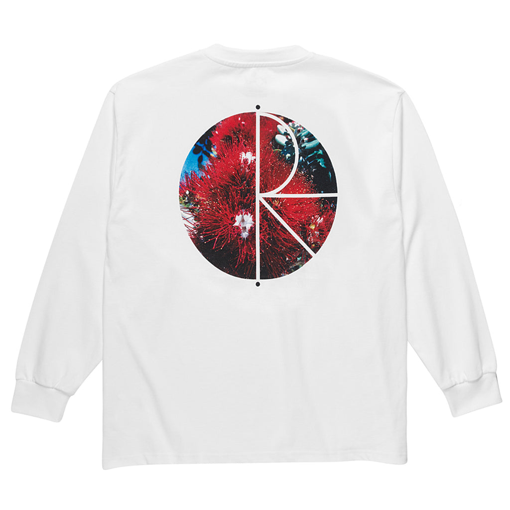 Polar Skate Co L/S Callistemon Fill Logo T Shirt in White