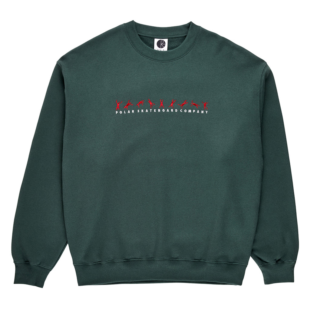 Polar Skate Co Cartwheel Crewneck Sweatshirt in Grey Teal