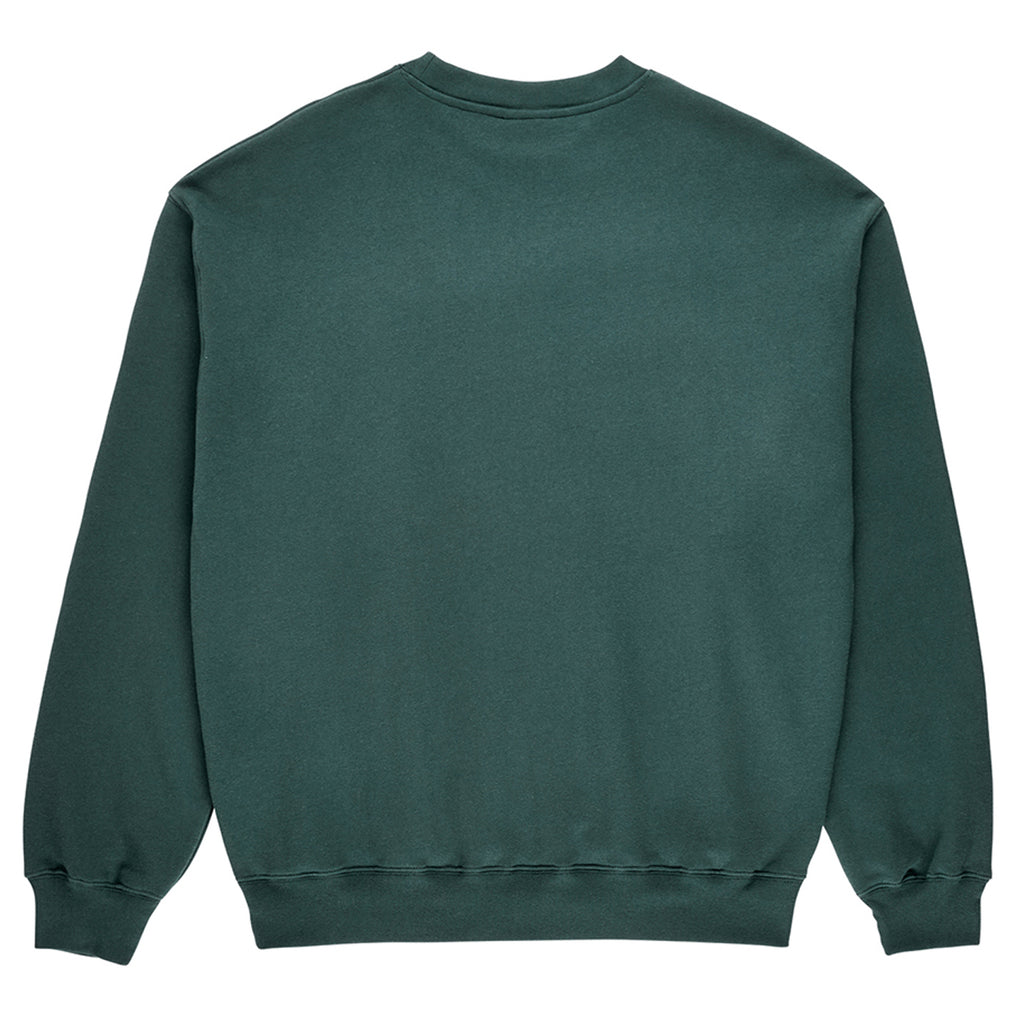 Polar Skate Co Cartwheel Crewneck Sweatshirt in Grey Teal - Back