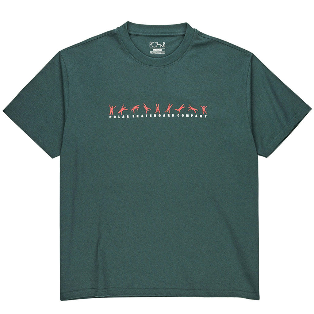 Polar Skate Co Cartwheel T Shirt in Grey Teal