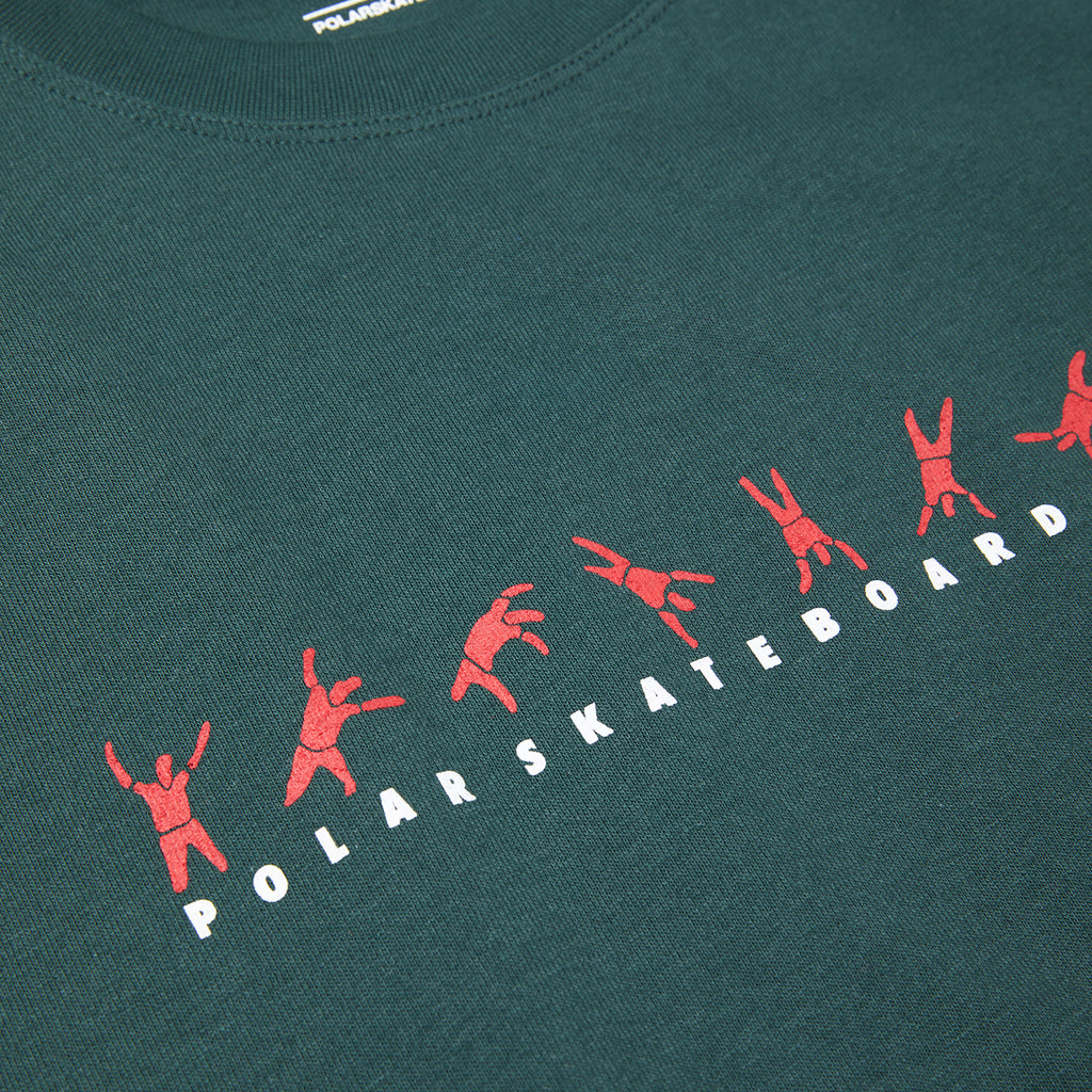 Polar Skate Co Cartwheel T Shirt in Grey Teal - Print