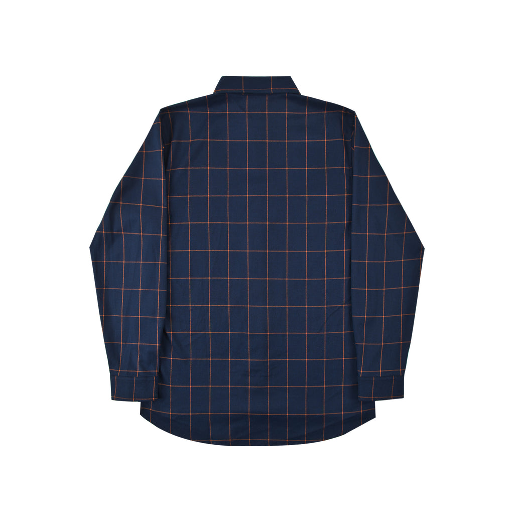 Helas Classic Carreaux Shirt in Navy - Back