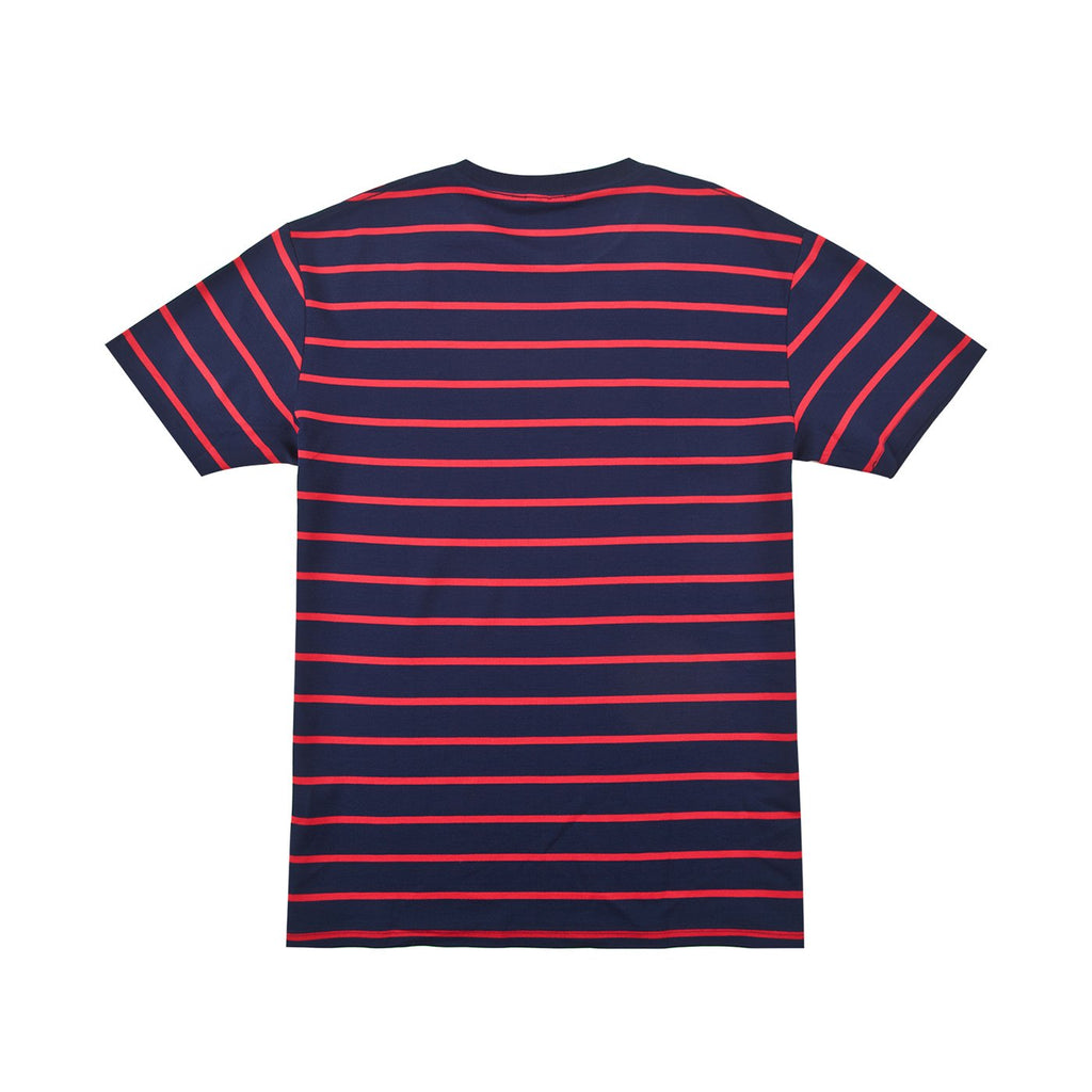 Helas Classic Striped T Shirt in Navy - Back