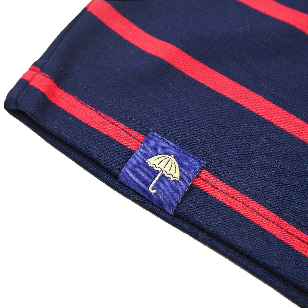 Helas Classic Striped T Shirt in Navy - Label