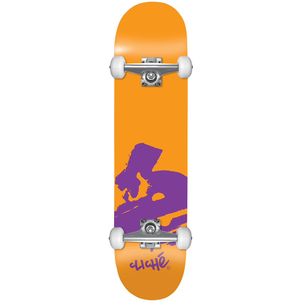 Cliche Skateboards Europe Orange Complete Skateboard in 7.875""