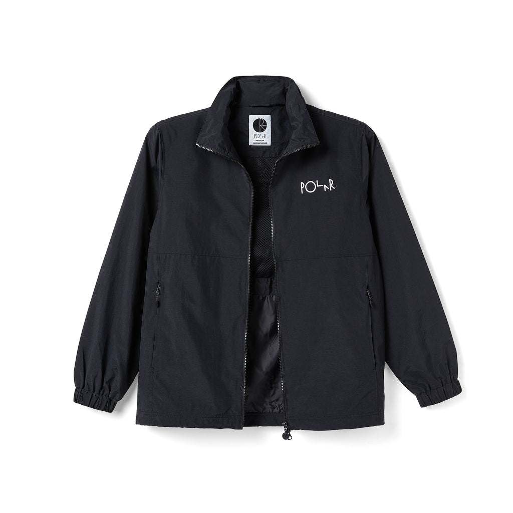 Polar Skate Co Coaches Jacket in Black - Unzipped