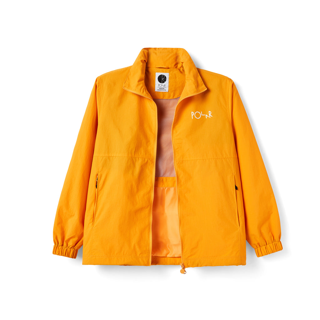 Polar Skate Co Coaches Jacket in Yellow - Unzipped