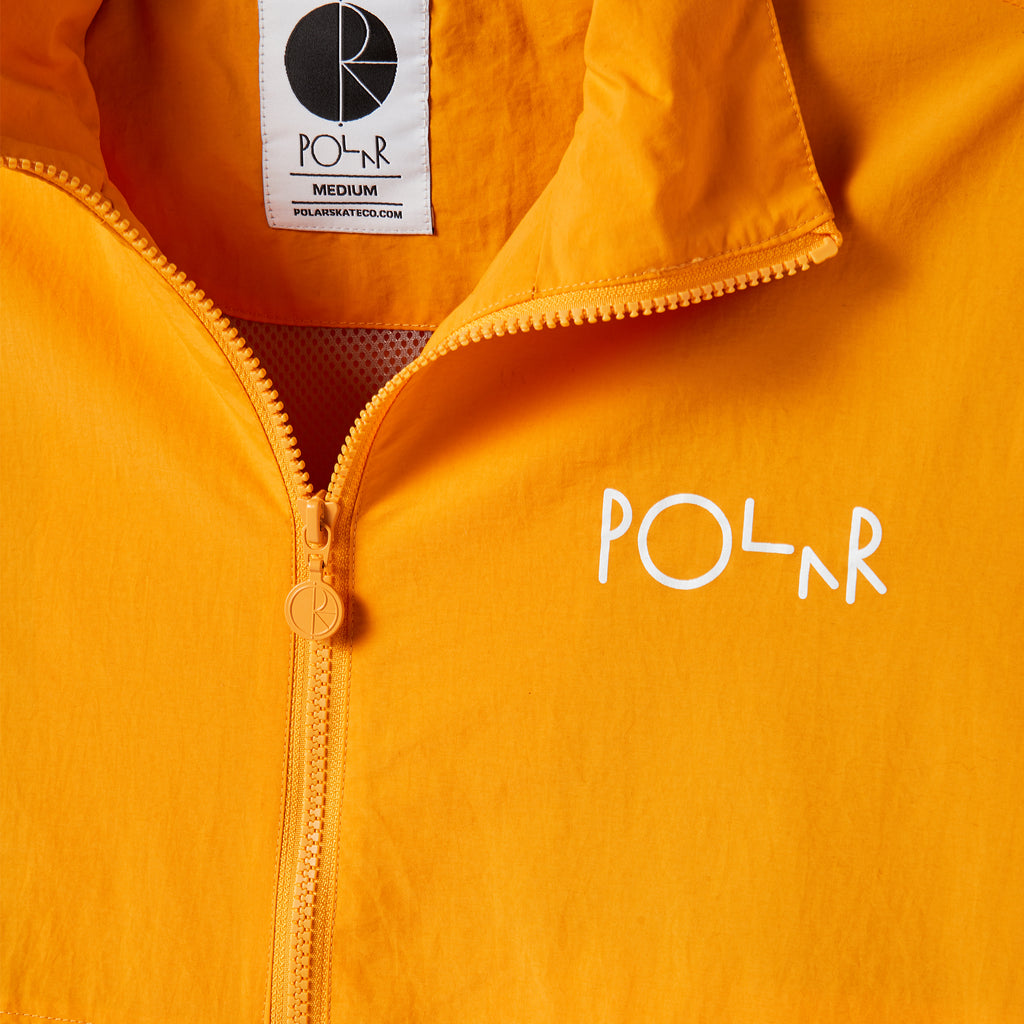 Polar Skate Co Coaches Jacket in Yellow - Detail