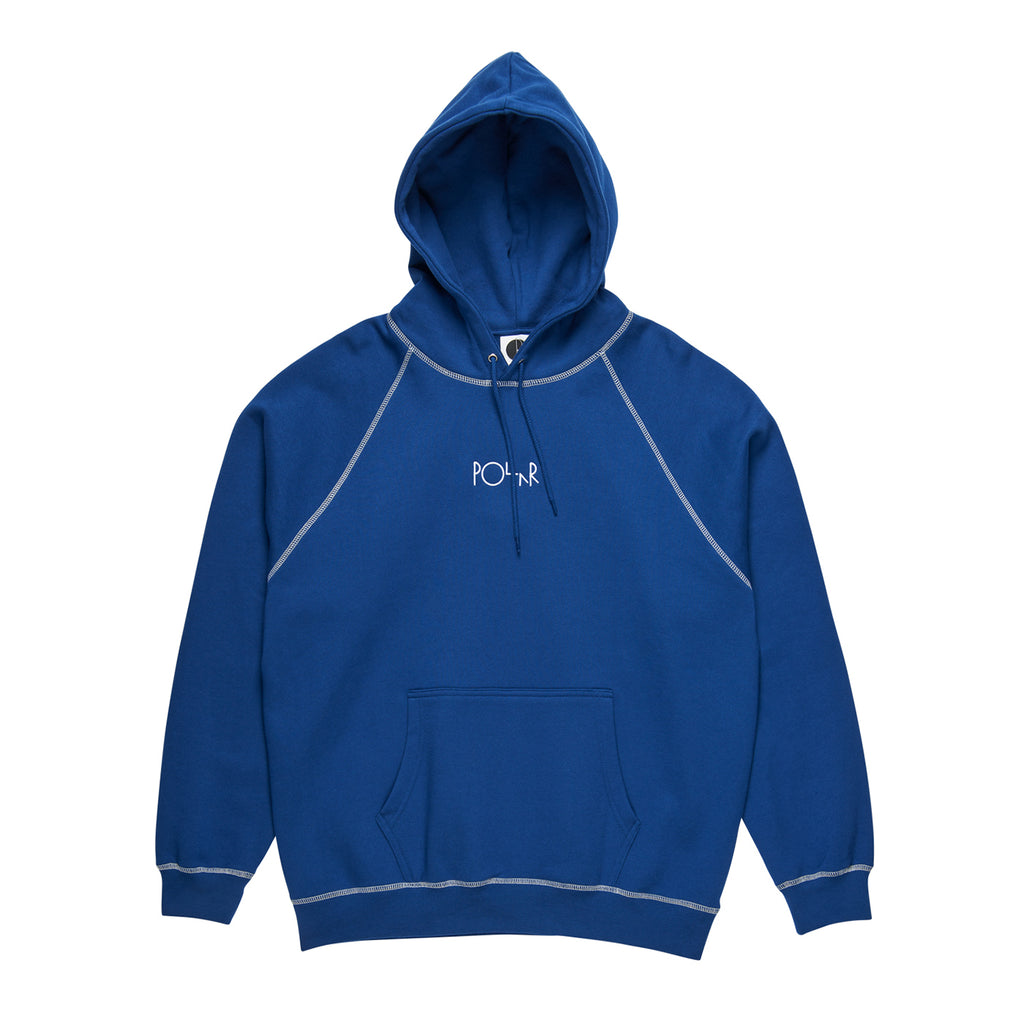 Polar Skate Co Contrast Default Hoodie in Dark Blue / White