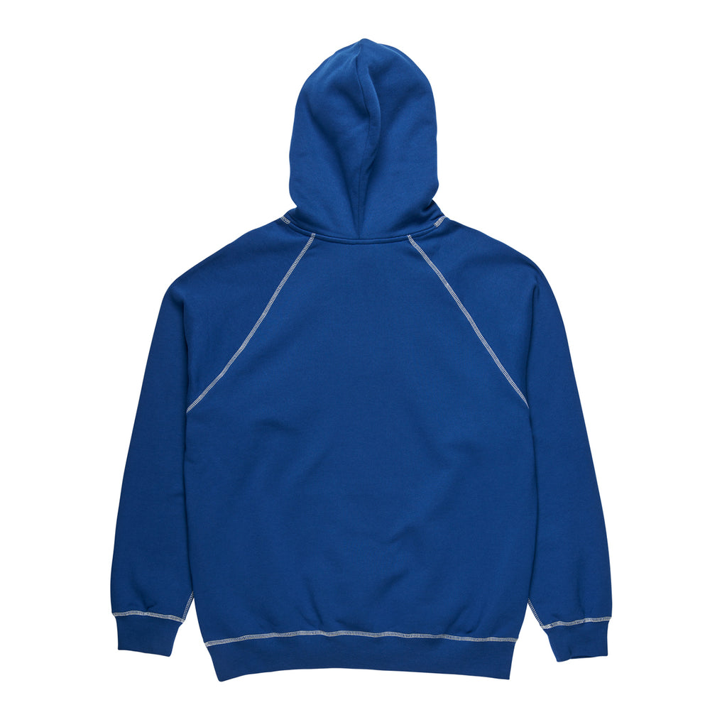 Polar Skate Co Contrast Default Hoodie in Dark Blue / White - Back