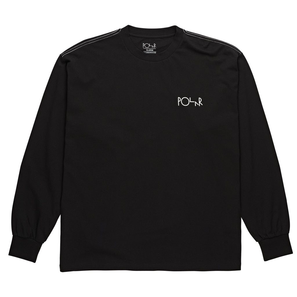 Polar Skate Co L/S Contrast T Shirt in Black - Front