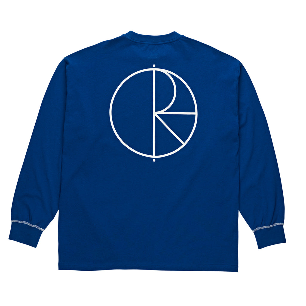 Polar Skate Co L/S Contrast T Shirt in Dark Blue / White