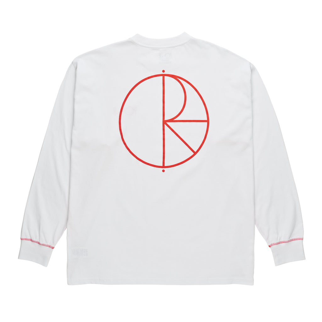 Polar Skate Co L/S Contrast T Shirt in White / Red