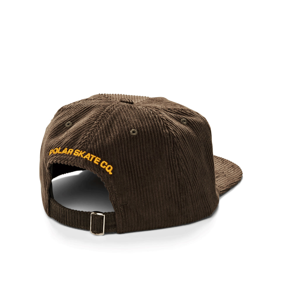 Polar Skate Co Cord 5-Panel Cap in Brown - Back