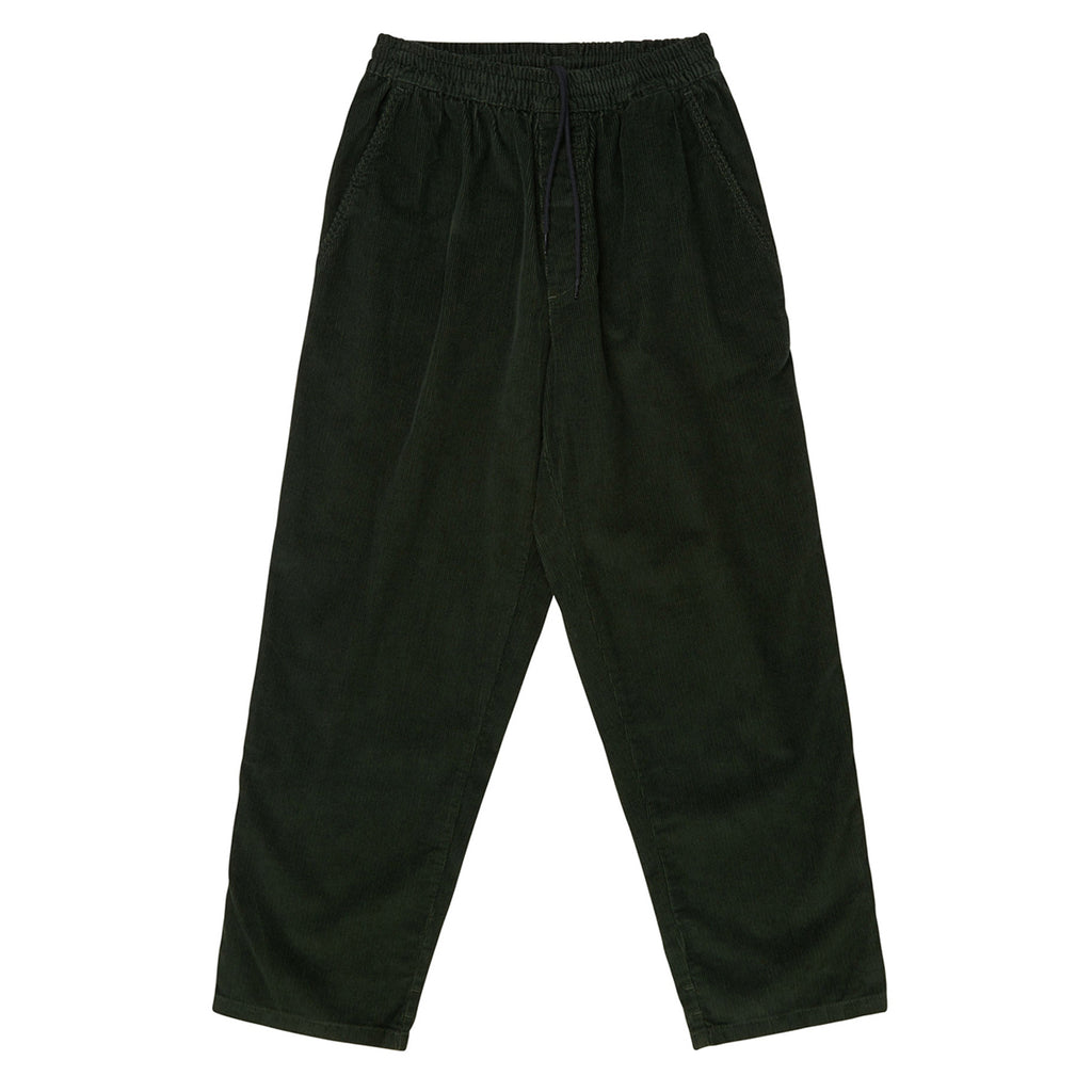Polar Skate Co Cord Surf Pants in Dark Olive - Front