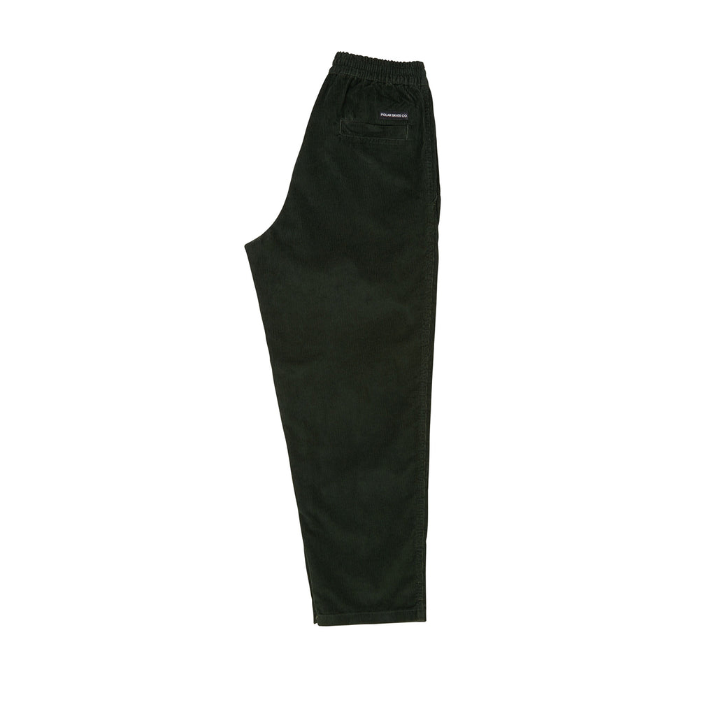 Polar Skate Co Cord Surf Pants in Dark Olive - Leg