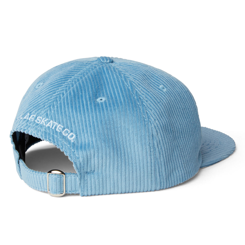Polar Skate Co Cord Cap in Sky Blue - Back