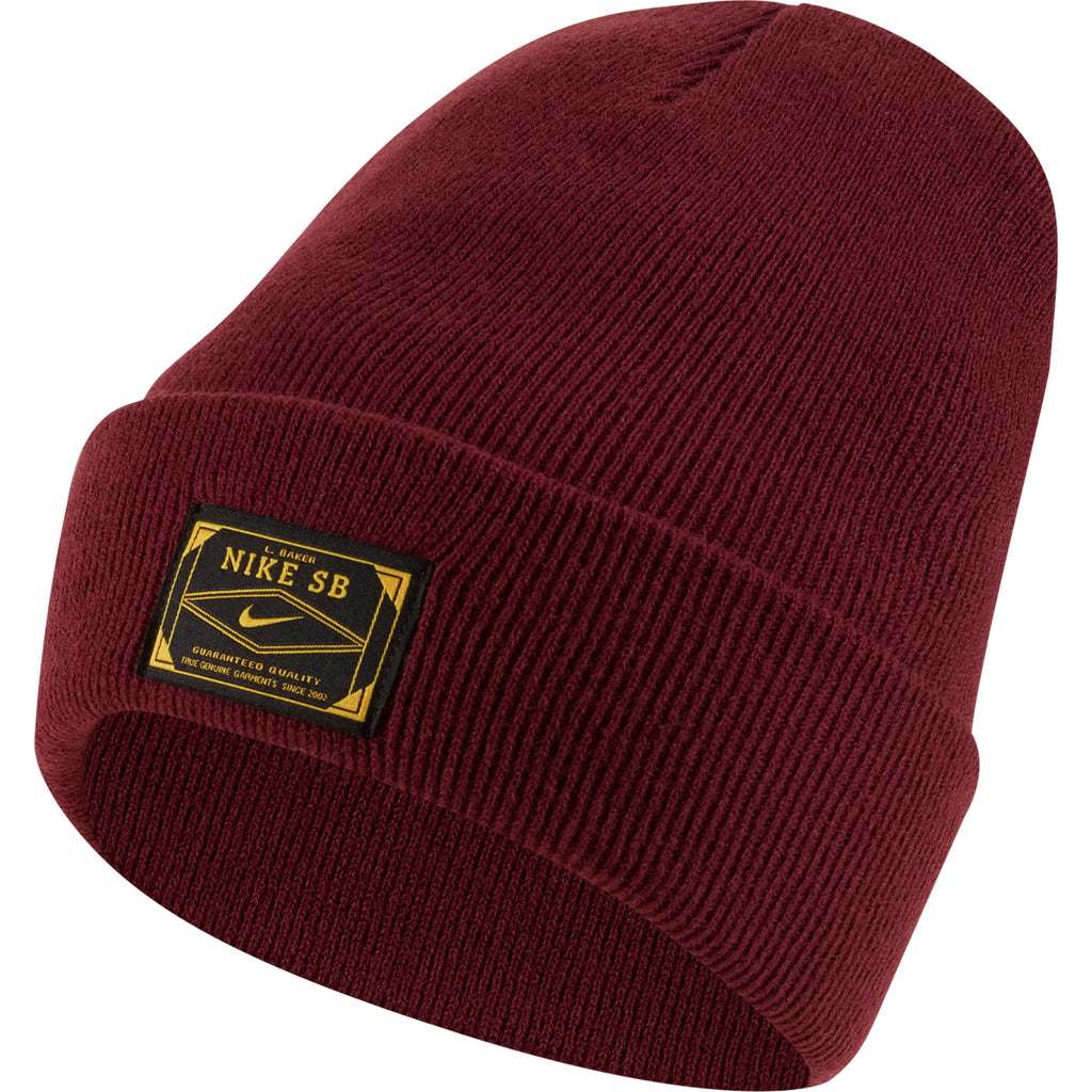 Nike SB Orange Label x Leo Baker Skate Beanie - Night Maroon / Dark Sulfur