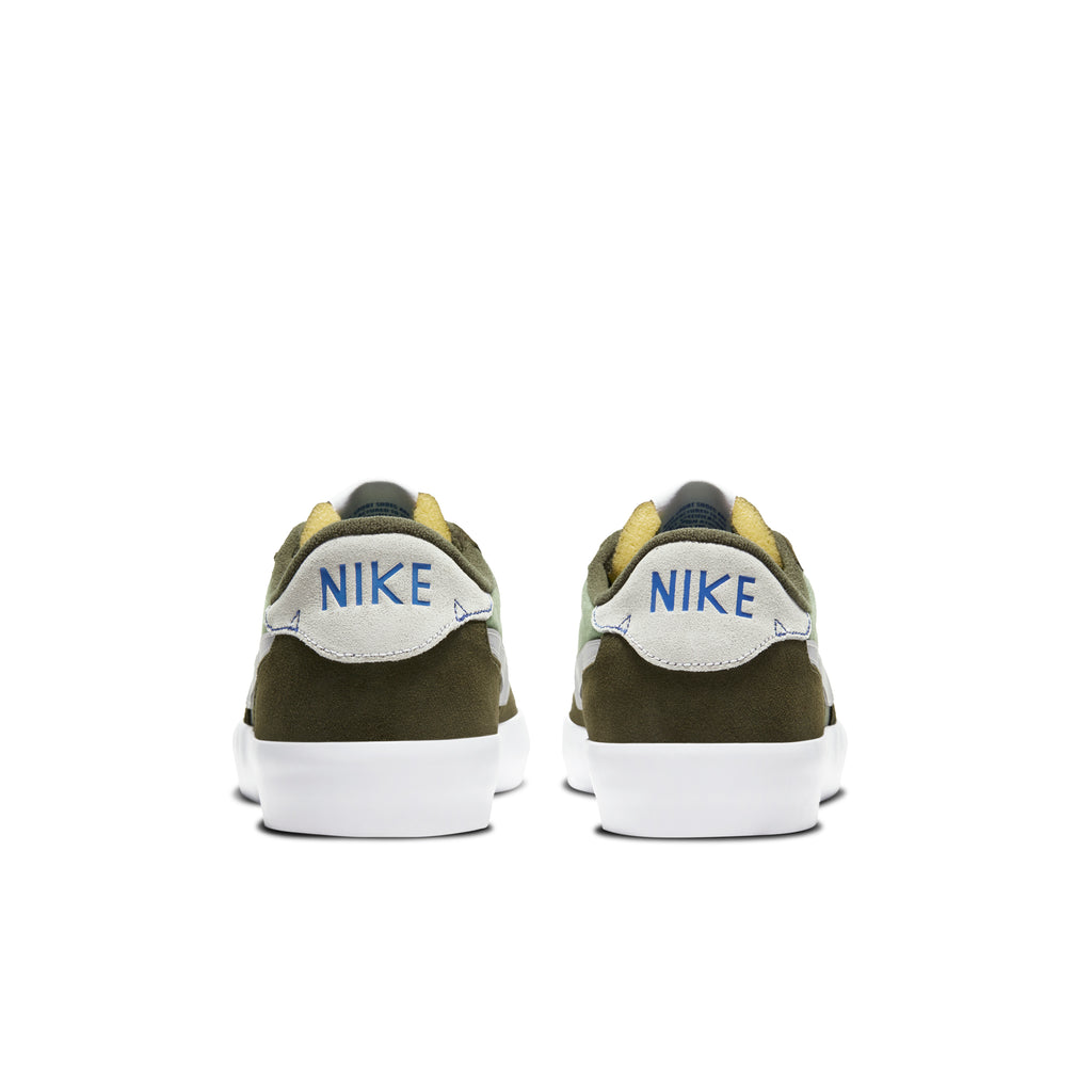 Nike SB Heritage Vulc Premium Shoes in Cargo Khaki / Medium Grey - Spiral Sage - Heel