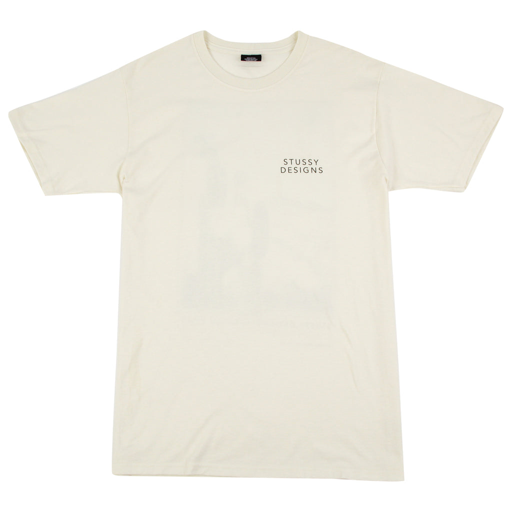Stussy Cactus Sky T Shirt in Vanilla - Front