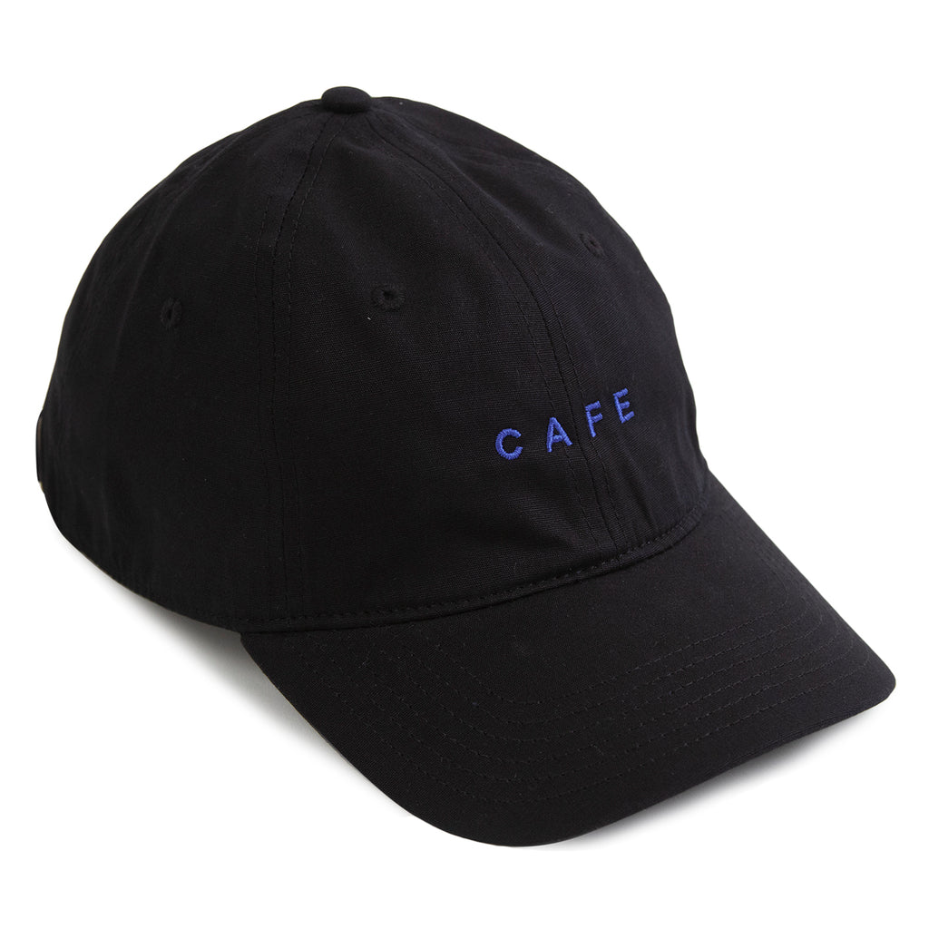 Skateboard Cafe Embroidered 6 Panel Cap in Black