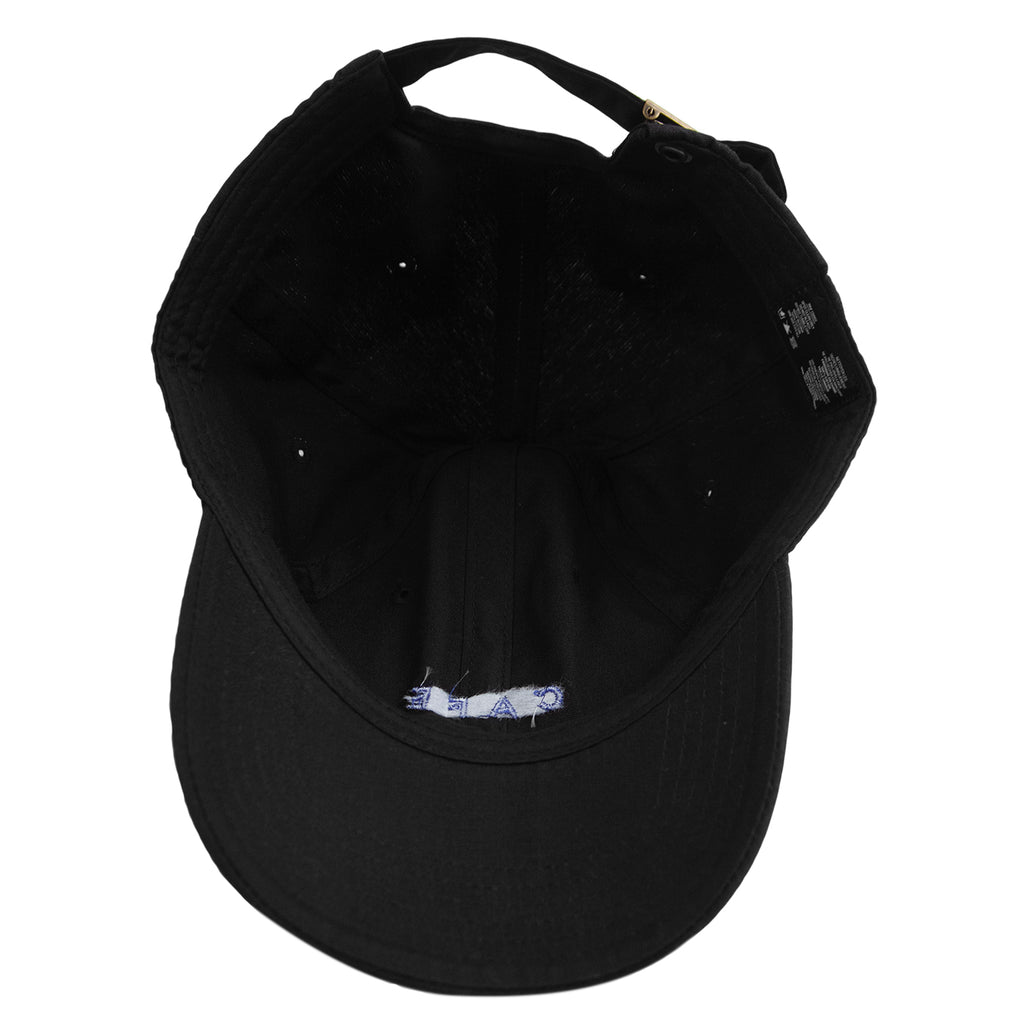 Skateboard Cafe Embroidered 6 Panel Cap in Black - Inside
