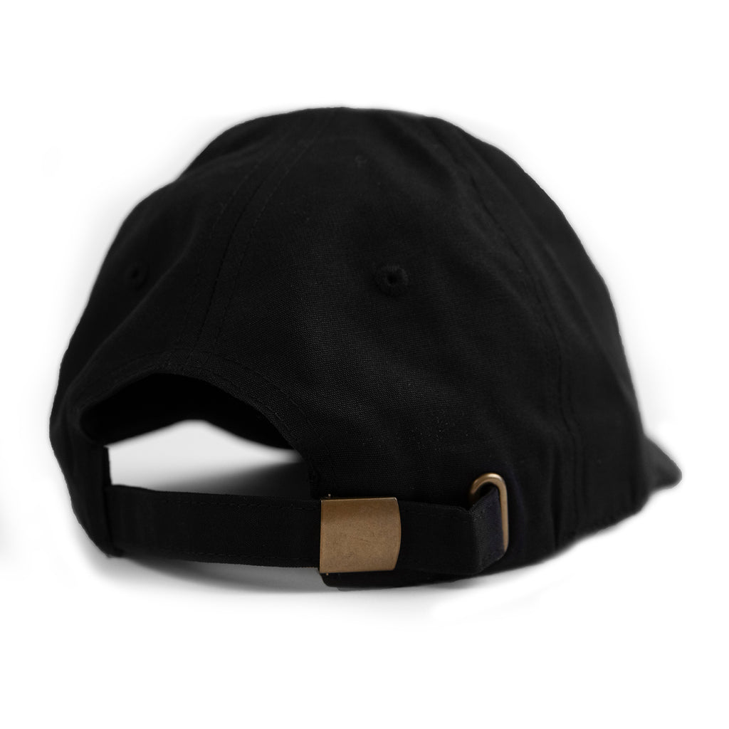 Skateboard Cafe Embroidered 6 Panel Cap in Black - Back