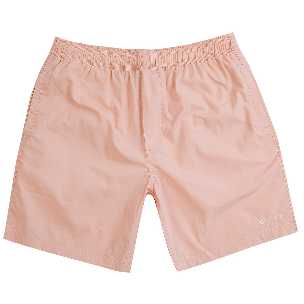 Skateboard Cafe Embroidered Shorts in Pink