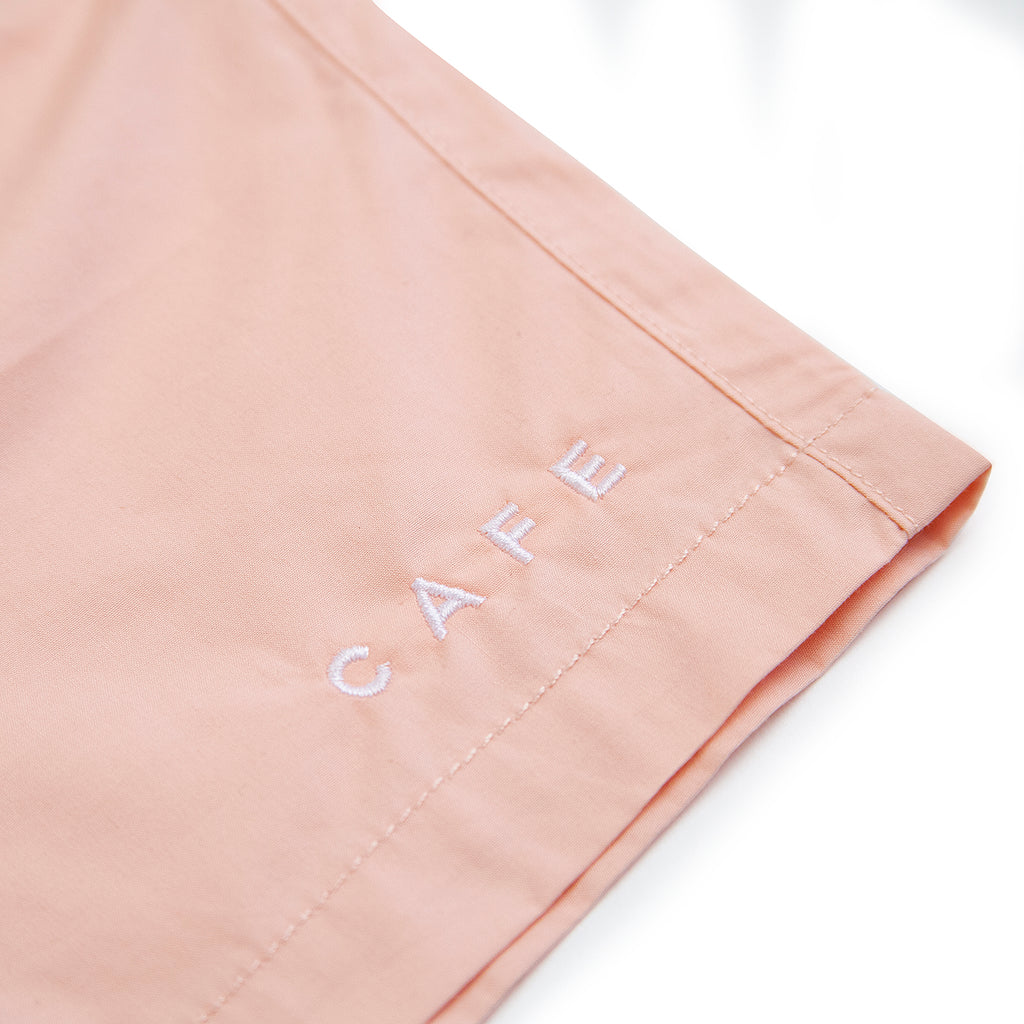Skateboard Cafe Embroidered Shorts in Pink - Embroidery
