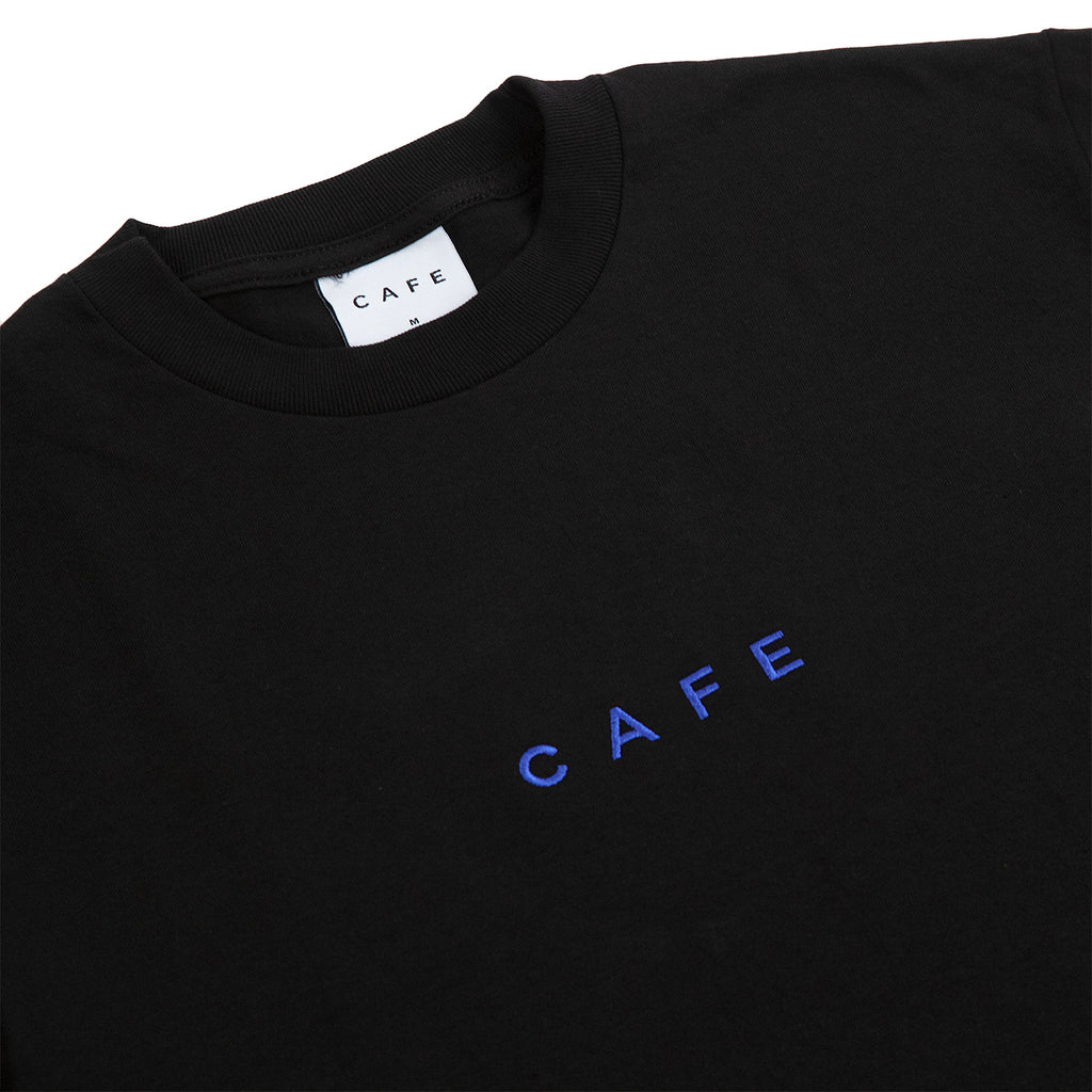 Skateboard Cafe Embroidered T Shirt in Black - Detail
