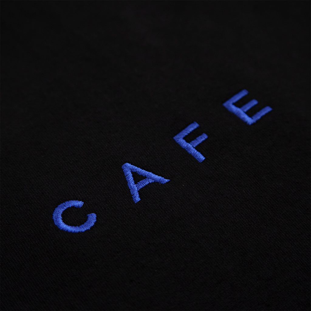 Skateboard Cafe Embroidered T Shirt in Black - Embroidery