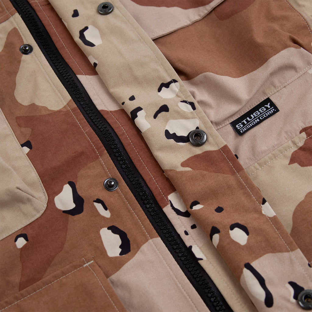 Stussy Camo Taped Seam Field Jacket Camo - Detail
