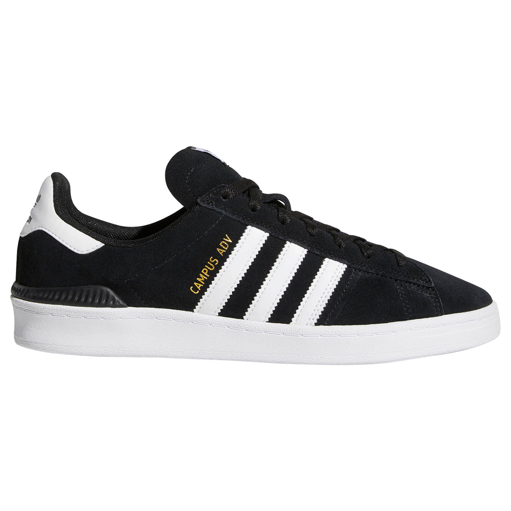 Adidas Campus ADV Shoes in Core Black / Footwear White / Footwear White