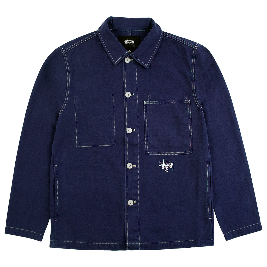 Stussy Canvas Shop Jacket in Navy