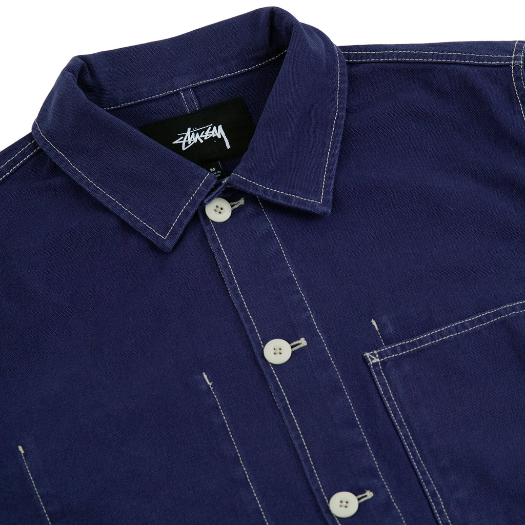 Stussy Canvas Shop Jacket in Navy - Detail