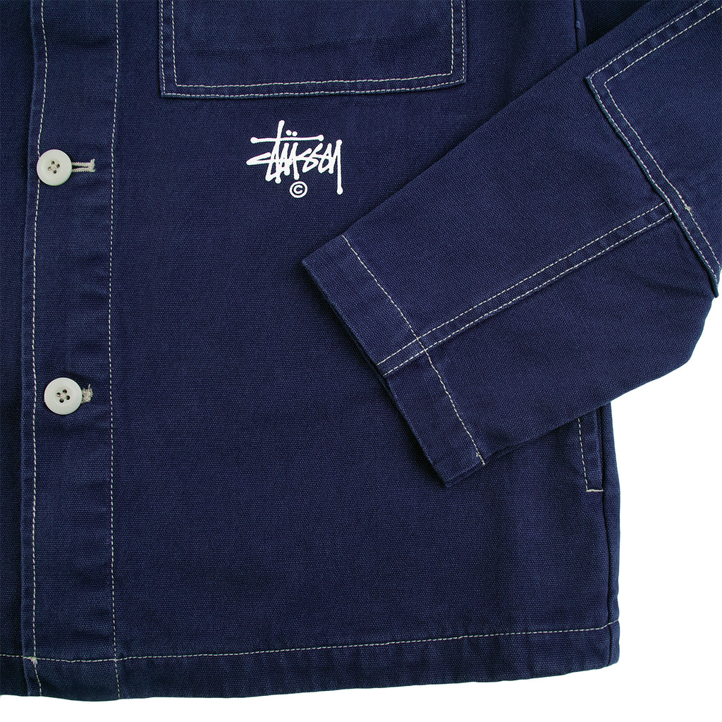 Stussy Canvas Shop Jacket in Navy - Cuff